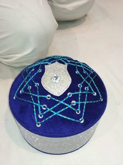 Fancy Naalein Diamond Islamic Topi