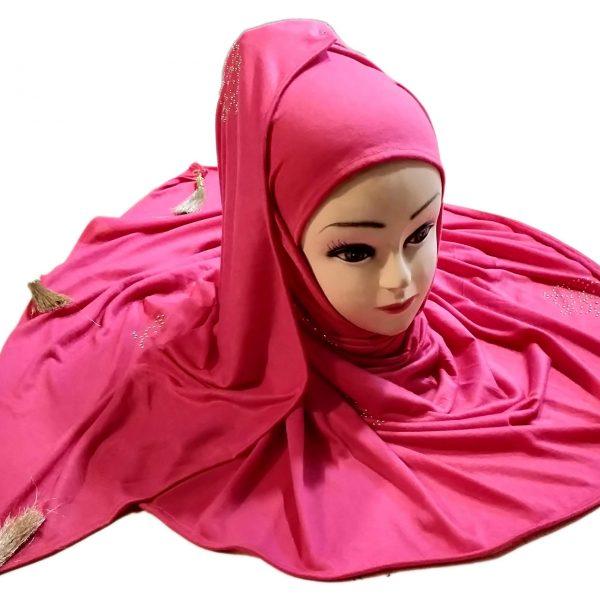 Hijab Rozy Pink Model-6-1