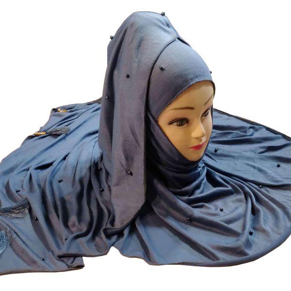 Hijab Grey Model-7-1