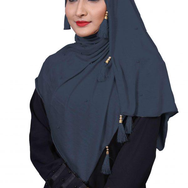 Hijab Grey Model-7