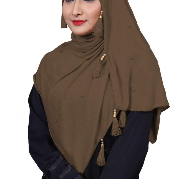 Hijab Light Brown Model-4