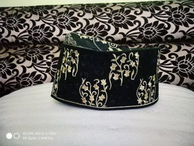 Banarasi Topi With Black Golden