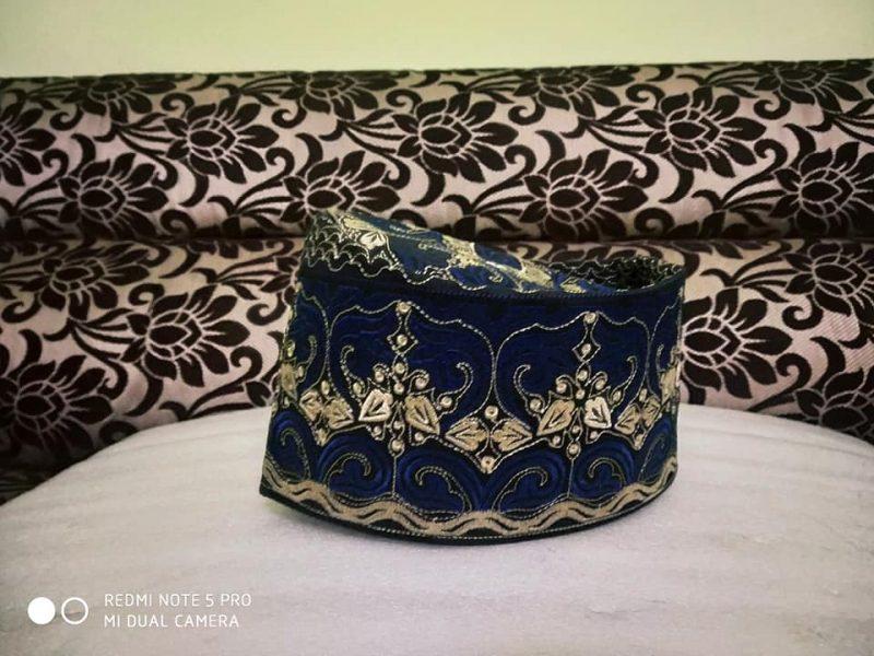 Barkati Topi With Blue Golden Model-5