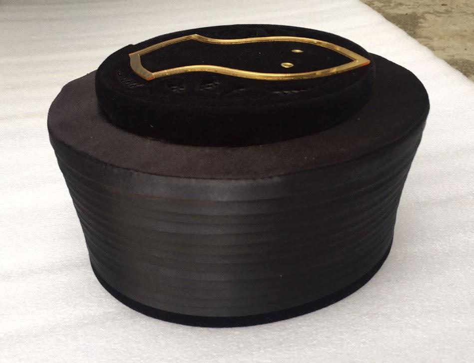 Black Color Pir Saqib Shami Topi