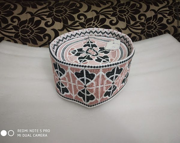Barkati Topi Pink Wing Design Model 21
