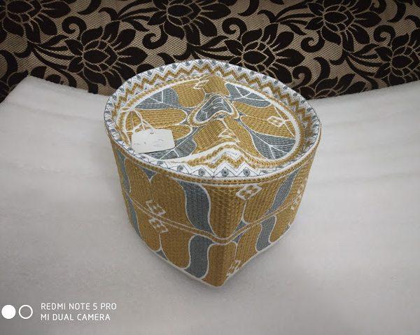 Barkati Topi Grey Brown Model 25-1
