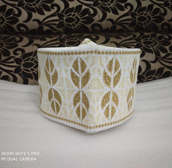 Barkati Topi Cream Beige Design Model 27