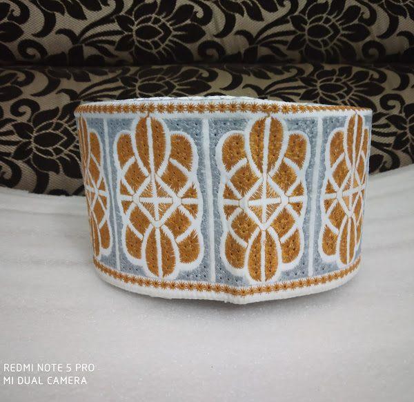 Barkati Topi Orange Design Model 42