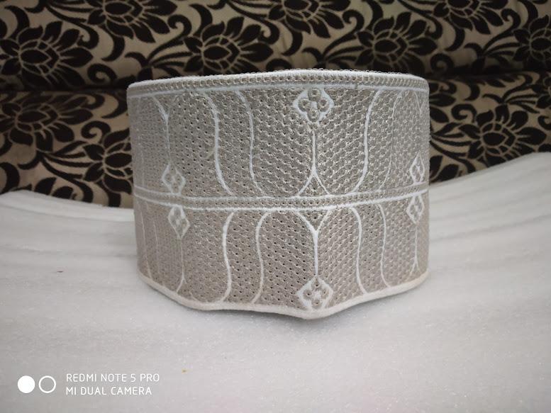Barkati Topi Light Grey Design Model 45