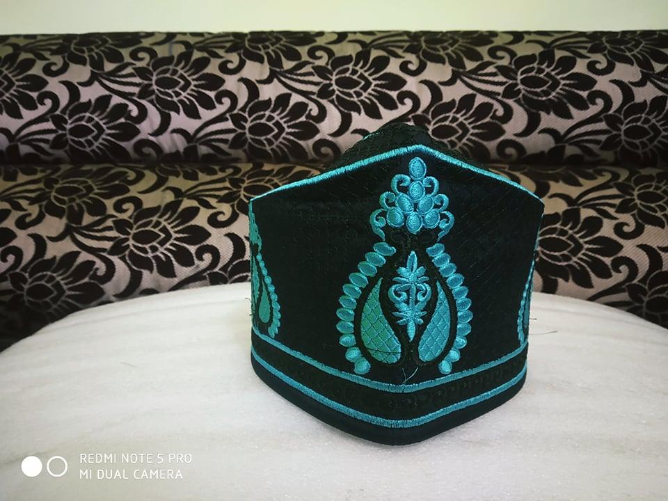 Baekati Peacock Black Blue Topi
