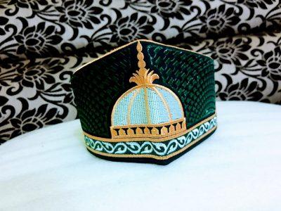 Barkati Golden Green Garib Nawaz Gumbad Topi