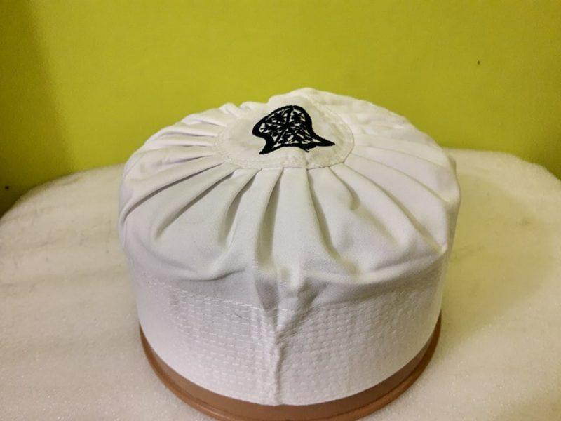 Asaduddin Owaisi Cap With Naalein White Color