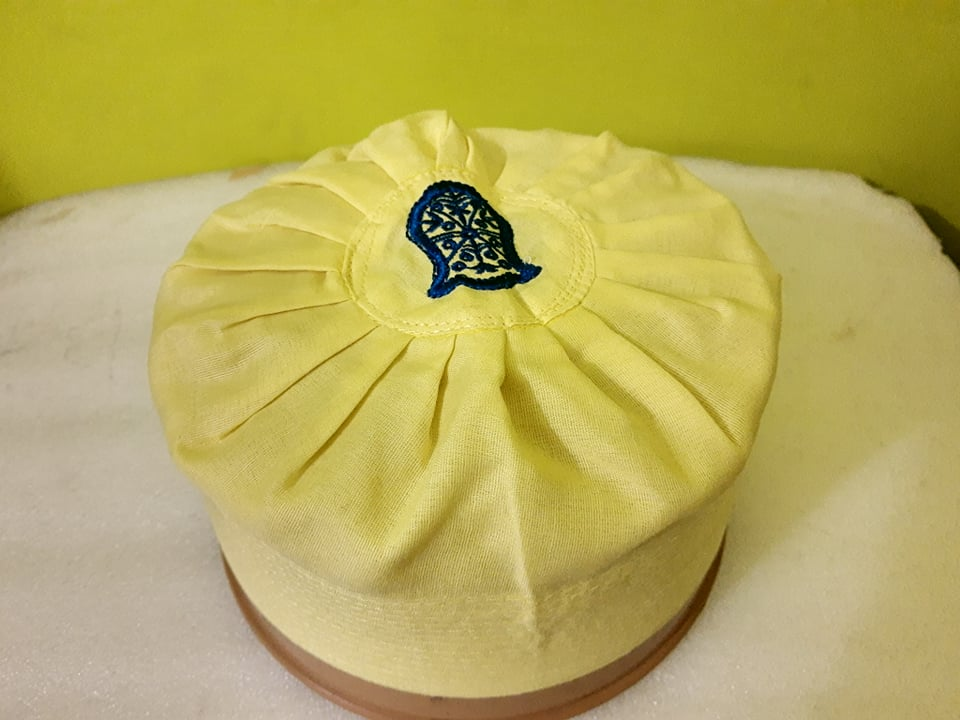 Asaduddin Owaisi Cap With Naalein in Yellow