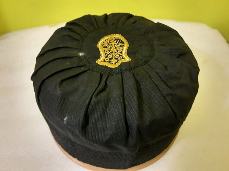 Asaduddin Owaisi Cap With Naalein Black Color