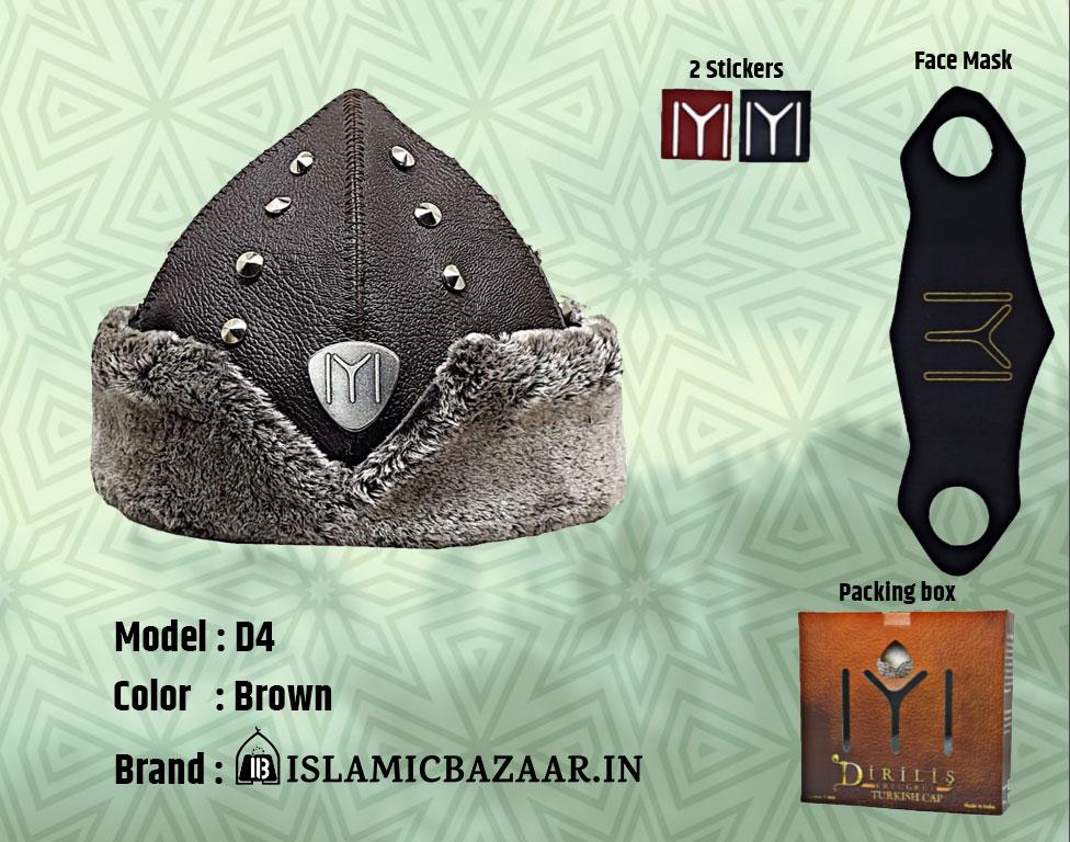 Turkish Ottoman Bork Hat Ertugrul Ghazi Model D4 Cap India