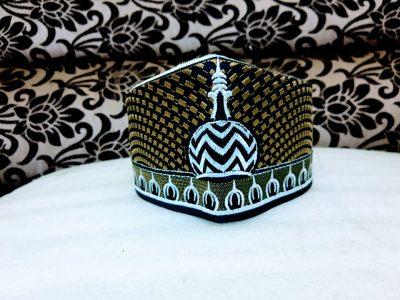 Islamicbazaar Barkati Topi With Alahazrat Gumbad,Golden