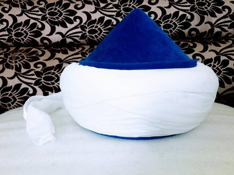 Turkish-Nakshbandi-Amama- Navy Blue