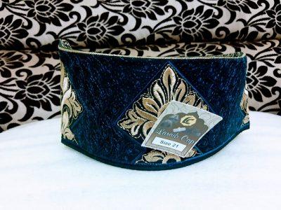 Barkati Blue golden Flower Topi Model No 261220