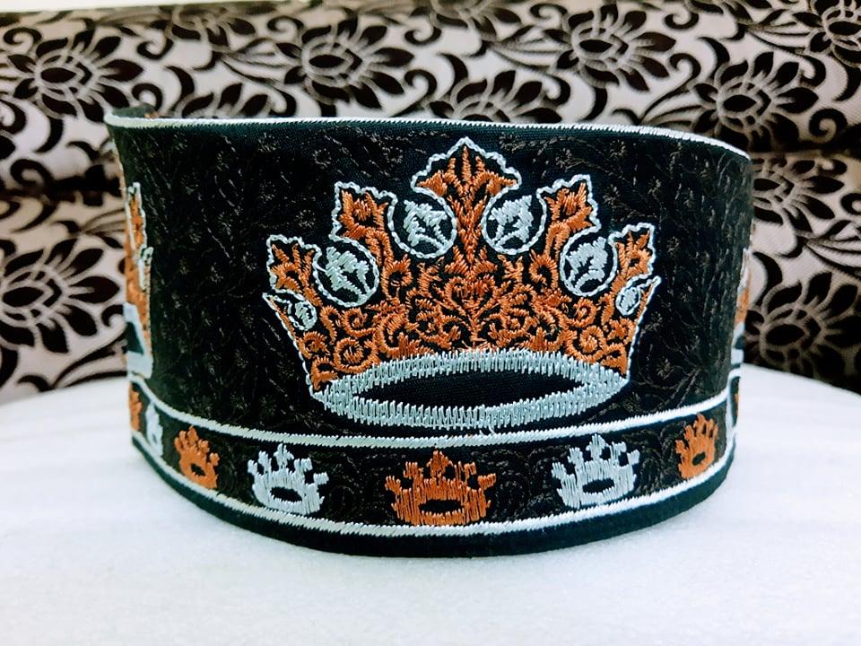 Barkati Tajjushariah Topi Golden Black Model No 241220-1