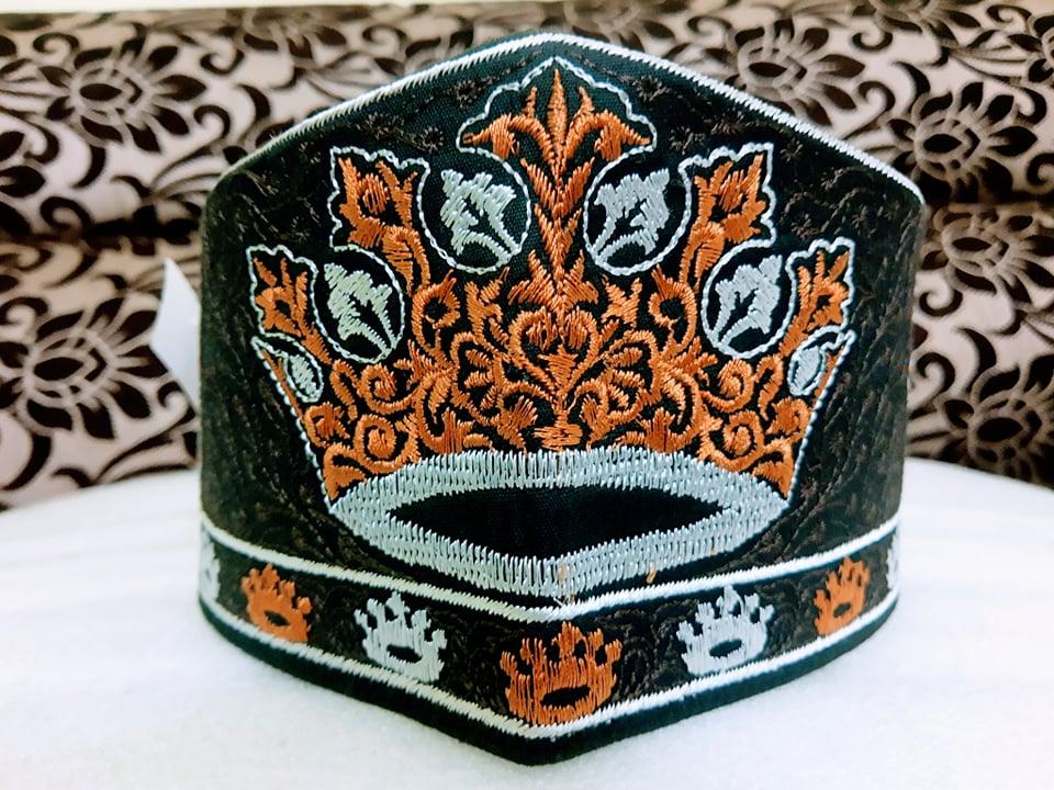 Barkati Tajjushariah Topi Golden Black Model No 241220