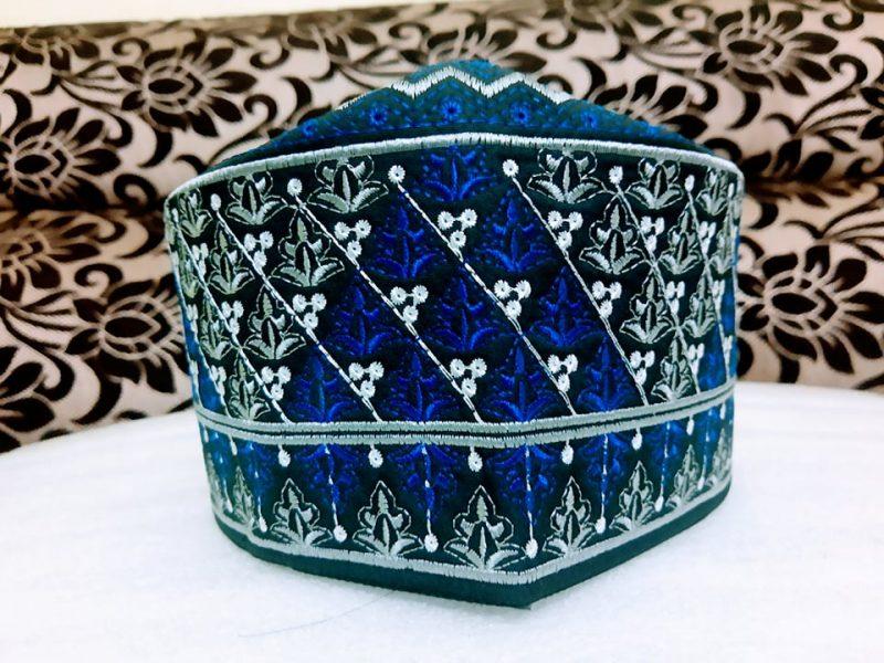 Barkati Omani Topi Blue Model No 241220