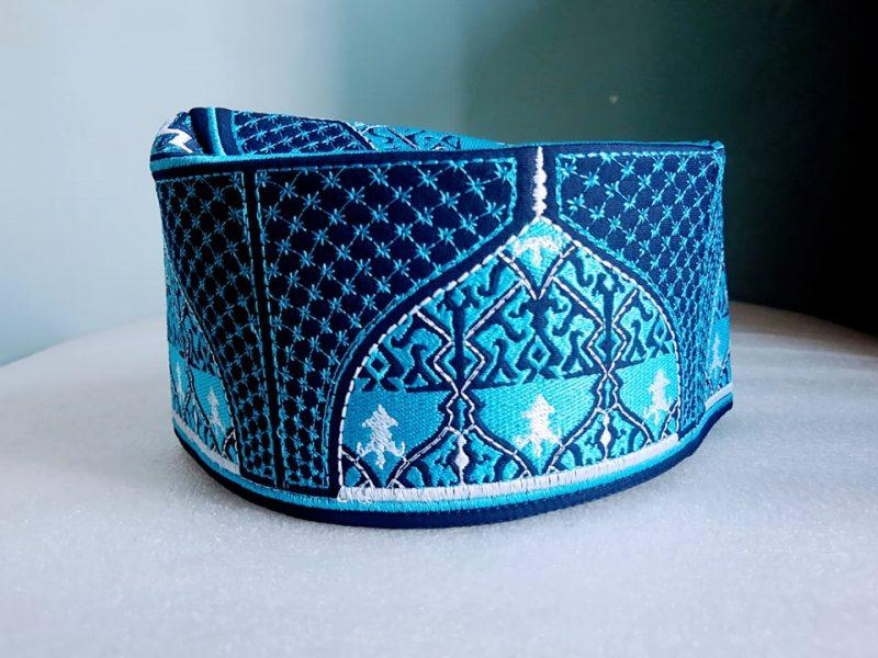 Barkati Baghdadi Blue New-1 Design Topi
