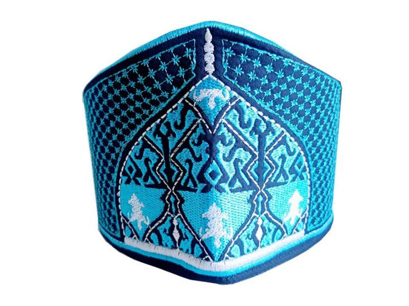 Barkati Baghdadi Boat Shape Topi Blue-1