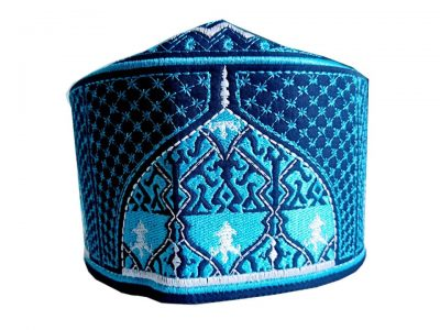 Barkati Baghdadi Blue New Design Topi-1