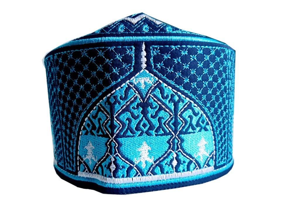 Barkati Baghdadi Blue New Design Topi-1