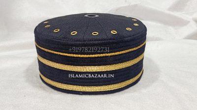 Black-fancy-lace-islamic-topi