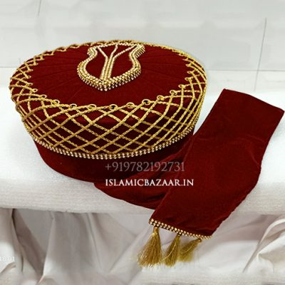Ashrafi Shabbir Barkati islamic Taaj Designer Topi | Islamicbazaar