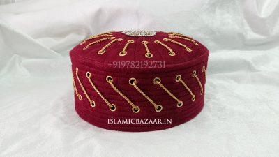 Islamicbazaar Mehroon Islamic Topi